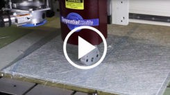 How to cut textiles and fiberglass on an AXYZ CNC router