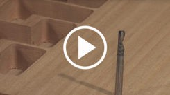 AXYZ CNC Router cutting and v-carving a wooden cube