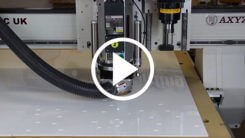 AXYZ CNC Router cutting an Acrylic and MDF sign video