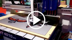 Trident Series CNC Router cutting ACM using AVS camera video